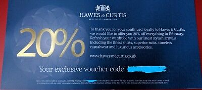 Hawes And Curtis Jermyn Street Online Discount Code for 20% off! Great shirts!