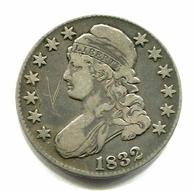 1832 CAPPED BUST HALF DOLLAR very fine VF DETAIL