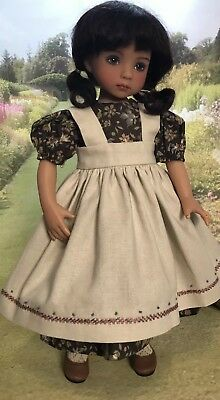"13"" Boneka Dianna Effner Little Darling Doll Dress + Embroidered Pinafore 33cm"
