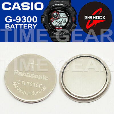 Casio G-Shock G-9300 Solar Ctl1616F Rechargeable Battery / Panasonic Capacitor