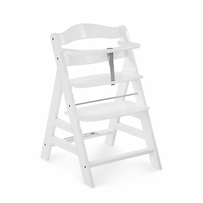 Hauck White Alpha Grow With Your Child Wooden High Chair Bouncer