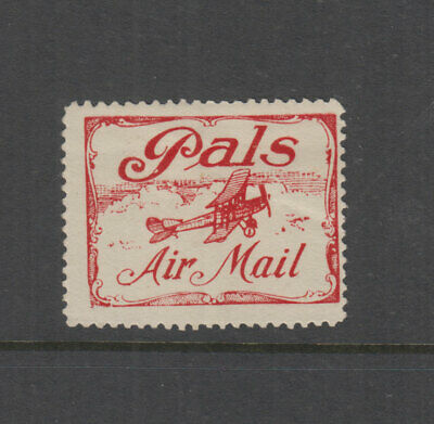 AUSTRALIA 1921 (-) Red 'PALS' Airmail Vignette-Cinderella-Frommer 4a Cat $125+HM