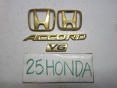 1998 2002 Honda Accord V6 Factory Gold Package Emblem Set Oem Jdm