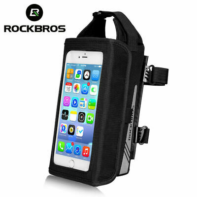 RockBros Magnetic Bike Front Tube Bicycle Frame Bag for 6.2 inch Phone Black