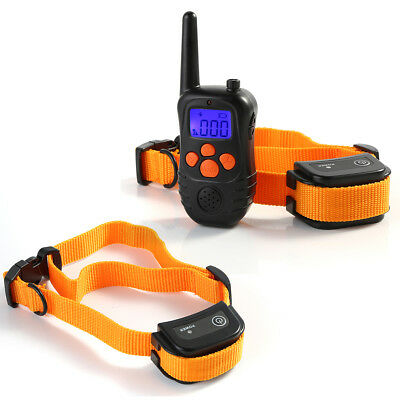 Waterproof Rechargeable Dog Training Collar With Shock Remote Dog Bark Collar