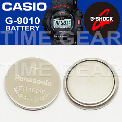 Casio G-Shock G-9010 Solar Ctl1616F Rechargeable Battery / Panasonic Capacitor