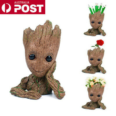 16CM Guardians of The Galaxy Baby Groot Figure Flowerpot Style Pen Pot Toy Gift