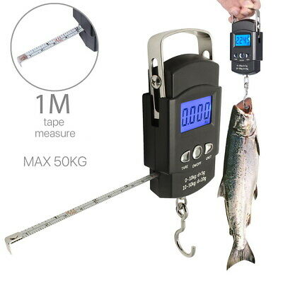 50KG Digital Travel Fish Luggage Postal Hanging Hook Electronic Weighing Scale