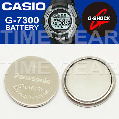 Casio G-Shock G-7300 Solar Ctl1616F Rechargeable Battery / Panasonic Capacitor