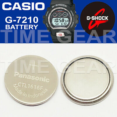 Casio G-Shock G-7210 Solar Ctl1616F Rechargeable Battery / Panasonic Capacitor
