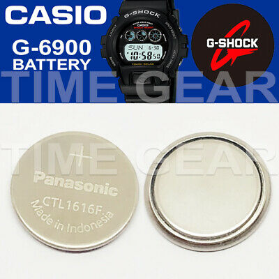 Casio G-Shock G-6900 Solar Ctl1616F Rechargeable Battery / Panasonic Capacitor