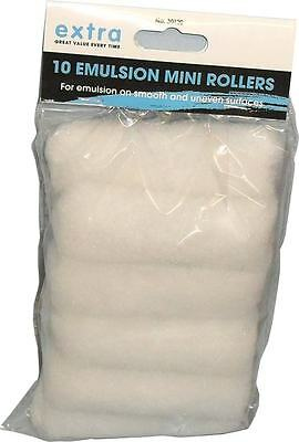 "4"" (100ml) MINI EMULSION PAINT ROLLERS 10 PACK"