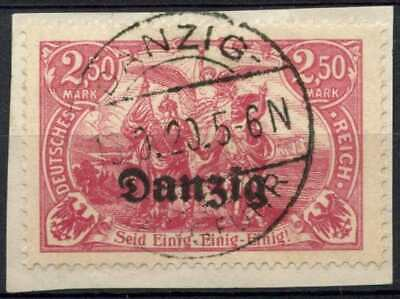 Danzig 1920 SG#12, 2m50 Claret Used On Piece #D85428