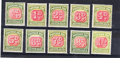 Postage Dues 1946-57 Series Mint & Mint Unhinged X 10 Different To 1/- (L81)