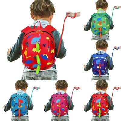 Cartoon Baby Toddler Kid Dinosaur Safety Harness Strap Bag Backpack With Reins