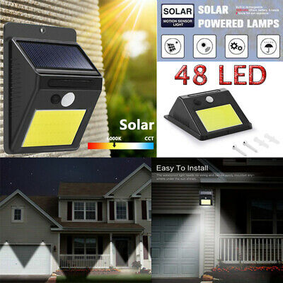 48 LED Solar Power PIR Motion Sensor Light Waterproof Outdoor Security Wall Lamp