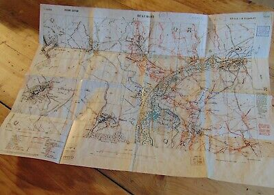 British WW1 New Attack Map BEAUMONT Somme Trench Map 1st July 1916 NEW