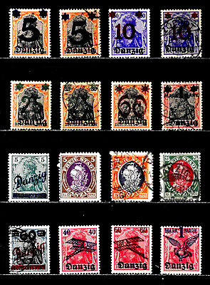 Danzig, Germany: 1920 - 1 Classic Era Stamp Collection With Set & Postal Use