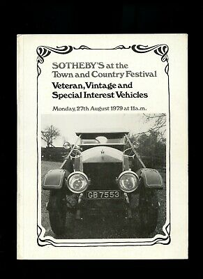 Sotheby's Classic Car Auction Catalogue Town & Country Festival 27/8/79