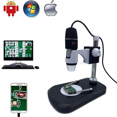 1000X 1600X 8LED USB Digital Microscope Endoscope Magnifier Camera with Stand