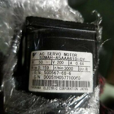 1PC Used Yaskawa SGMAH-A5AAA61D-OY Servo Motor Tested In Good Condition