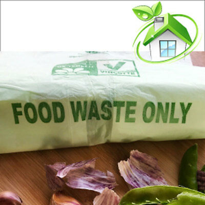 Compostable Caddy Bags | 30 Litre | 3 Rolls (60 Caddy Liners) | Food Waste Bags