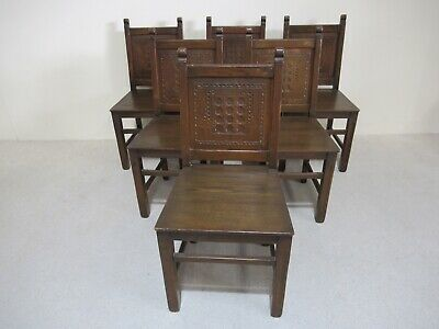 Set Of 6 Antique Oak Dining Chairs Kitchen Chairs Farmhouse Chairs Impressive