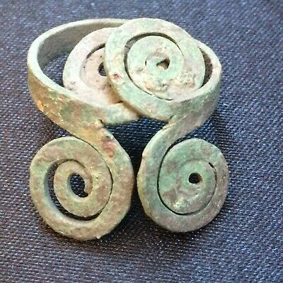 Stunning Ancient Celtic Twisted Bronze Spiral Ring