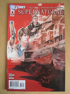 SUPERNATURAL issue 3.  THE CULT HIT CW TV SERIES. DC,  2012