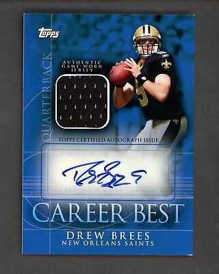 2009 TOPPS CAREER Best Drew Brees New Orleans Saints Jersey AUTO 20