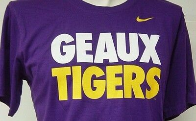 NEW Infant Toddler Boys Girls LSU Geaux Tigers Purple Gold Nike NCAA Tee T-Shirt