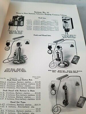 1900 Sales Catalog Western Electric Inter-Phone & Private Telephone Systems NR