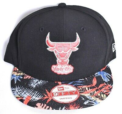 efd3b1aff45 CHICAGO BULLS New Era Black Floral Snapback Hat Cap Adjustable 9Fifty NBA   NEW