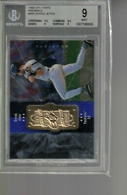 #305 DEREK JETER  1998 SPx FINITE  radiance   BGS 9  NEW YORK  yankees   /4500