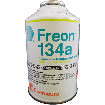 DuPont Suva / Chemours R134a Refrigerant With UV Leak Detector - 12 oz Can