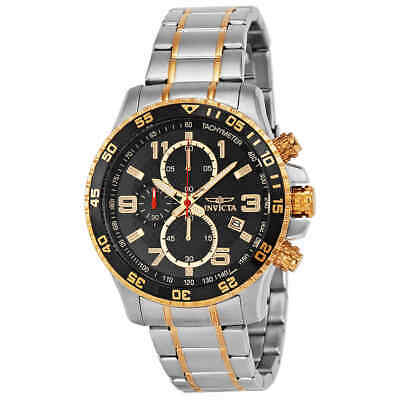 Invicta Specialty Chronograph Black Dial Stainless Steel Men's Watch 14877
