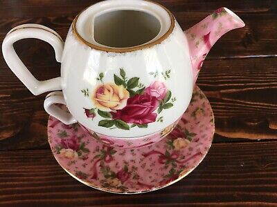 Royal Albert Tea For One Old Country Rose Pattern Chintz Coloring