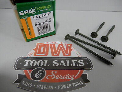 "6/"" Log Home Screws Spax XWL Lot 25 Wood Washer Head Coated Steel Timber T-Star"