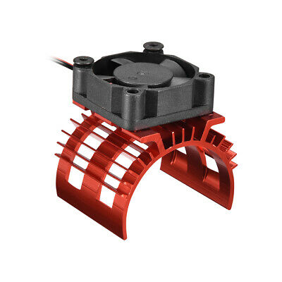 Aluminum Electric Engine Motor Heatsink with Cooling Fan Red for DIY Motor