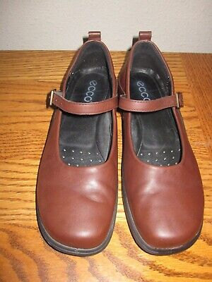 09997d3bede5 Ecco Eccolight Brown Leather Mary Janes Women s Size EUR 37   6.5 - 7 US