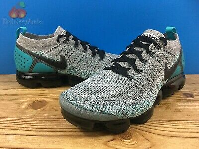 Nike Air Vapormax Flyknit 2 Mens Size 11.5 White Black Dusty Cactus 942842-104