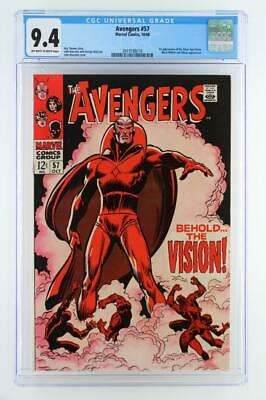 Avengers #57 - CGC 9.4 NM Marvel 1968 - 1st App of the Silver Age Vision!!!