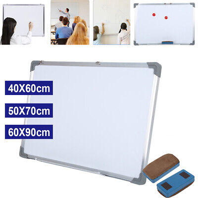 Magnetic Dry Wipe White Board Large & Small Wooden Frame Drywipe Office & Notice