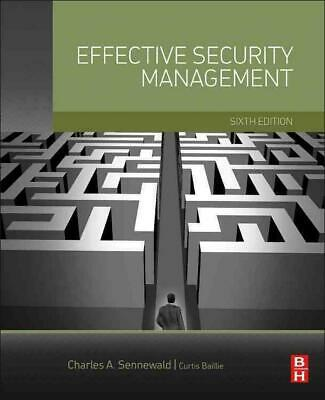 Effective Security Management by Curtis Baillie (English) Hardcover Book Free Sh