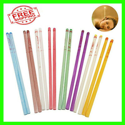 100x Cylinder Ear Cone Candles With Natural Bee Wax Paraffin For Ear Therapy