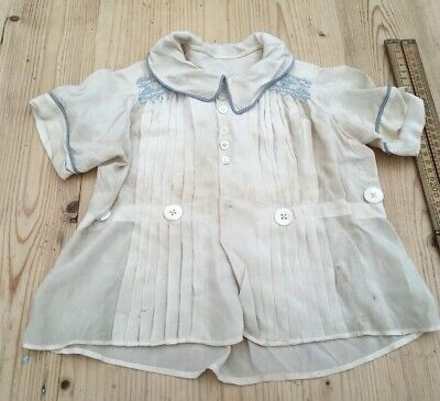 Sweet Antique Silk Top For Baby, Mother Of Pearl Buttons, Antique Baby's Top