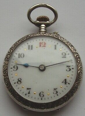 ANTIQUE POCKET WATCH LADIES FOB WATCH ELEGANT EDWARDIAN FOR SMALL REPAIR c1900s