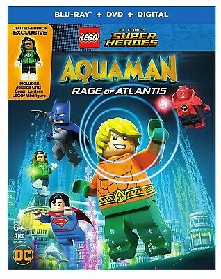 Aquaman Rage of Atlantis Lego DC Comics super Heroes (BLU-RAY + DVD + Digital)
