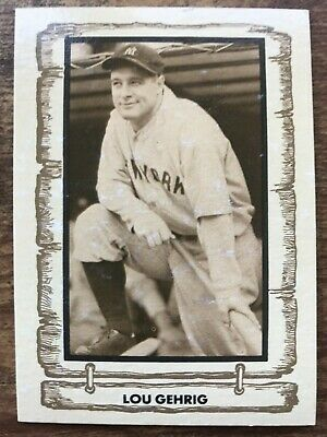 1980 Cramer Baseball Legends Card #13 Lou Gehrig New York Yankees EX/MT