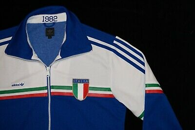 ec95114a0 Italy Italia Adidas Originals 1982 World Cup Football Tracksuit Track Top  MEDIUM